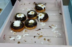 The Smores made with chocolate glaze, marshmallows and graham cracker crumbles